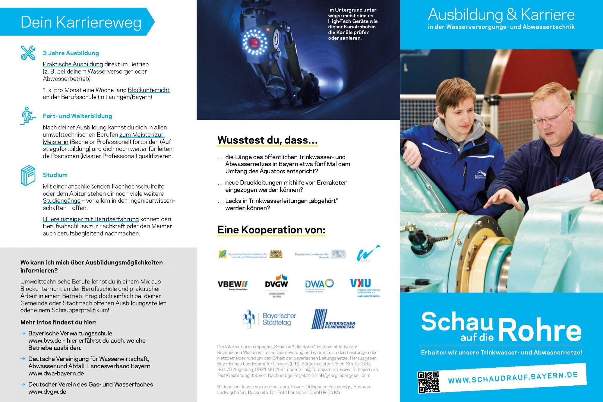 Das Bild zeigt eine Gesamtübersicht des aufgeklappten Folders mit der Coverseite.